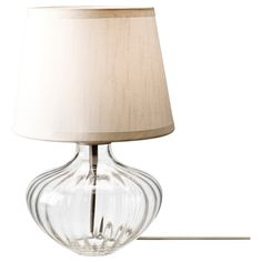 JONSBO EGBY Table lamp - clear glass/beige - IKEA