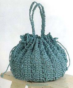 Crochet Bag http://easy-crochet.blogspot.co.il/2012/06/crochet-bag-free-pattern.html