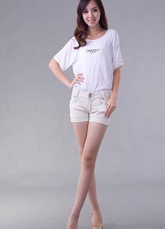 White Buttons Denim Short  $21.22 White Shorts, Denim Shorts, Cotton Shorts, Buttons, Sexy, Women, Fashion, Moda, Fashion Styles