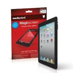 Pellicola Protettiva MediaDevil Magicscreen: Edizione Crystal Clear (Invisibile) - Per il nuovo Apple iPad 4 / 4ta Generazione (late 2012) / iPad 3 / 3za Generazione (inizio 2012) / iPad 2 / 2nda Generazione (2011) (2 x Pellicole Protettive)