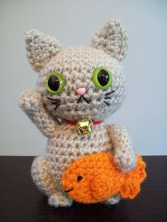 Maneki neko, Amigurumi and Crochet on Pinterest