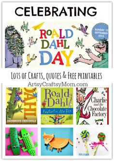 Have fun celebrating Roald Dahl Day - Lots of Crafts, Books, and Free… Roald Dahl Activities, Library Activities, Activities For Kids, Sequencing Activities, Classroom Activities, Classroom Ideas, Roald Dahl Day, Roald Dahl Books, Roald Dalh