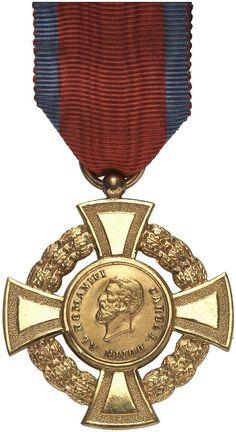 """RUMÄNIEN, KÖNIGREICH (1881-1947) - Medaille """"Militärische Tapferkeit im Krieg"""" [Medalia """"Virtutea Militare de Razboiu""""]. 2. Modell, Kreuz 1. und 2. Klasse, jeweils Ausführung mit separat eingesetzten Medaillons, vergoldet bzw. versilbert, jeweils am späteren Bandstück. Dazu: Sanitäts- Money Template, Money Notes, Coat Of Arms, Bars For Home, Wwi, Romania, Badges, Awards, Military"""