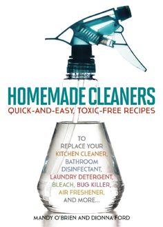 Naturalmente Mamá: Libro Homemade Cleaners un recetario para lograr una limpieza ecológica y económica | Reseña y #Sorteo