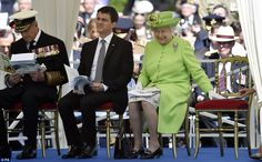 dailymail:  Duke of Edinburgh and Prime Minister Manuel Valis miss Queen Elizabeth's big smile and pat on the empty chair beside her as she watched her son Charles, the Prince of Wales, lay a wreath of remembrance  at the Commonwealth War Graves Cemetery at Bayeux, Normandy, during the 70th Anniversary Commemoration of D-Day, June 6, 2014.