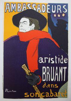 "Toulouse Lautrec ""Aristide Bruant""-1893"