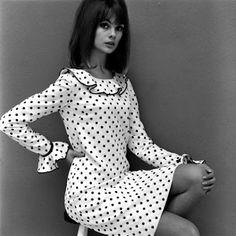 Jean Shrimpton in a Mary Quant dress