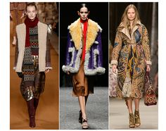 20 trends for Fall/Winter 2014-2015. Second skin Burberry Etro Prada cuddly, soft silhouettes, with an ethnic vibe