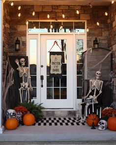 halloween front porch enter if you dare