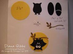 Bat on a Branch - punch art chart - Di Gibbs blog