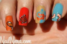 Memorial Day BBQ Inspired Nail Art check out www.ThePolishObsessed.com for more nail art ideas.