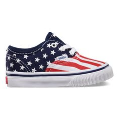 Vans Toddlers Authentic Stars and Stripes
