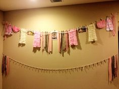 Clothesline for cowgirl baby shower