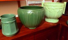 Two Zanesville pieces and a big McCoy Porch Jar