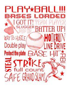 baseball subway art printable