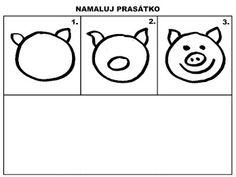 Pro Šíšu: Pracovní listy MALUJEME Class Projects, Easy Drawings, Worksheets, Preschool, Symbols, Activities, Pictures, Child Development, Animals
