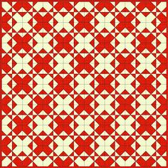 """Disappearing 4 patch - with a twist""- block begins as a two by two block of four squares, and 64 of the finished blocks make THIS"