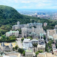 View over McGill campus from Place Ville Marie Montreal Ville, Montreal Quebec, Montreal Canada, Laval, I Want To Travel, Paris Skyline, Hui, World, Geography