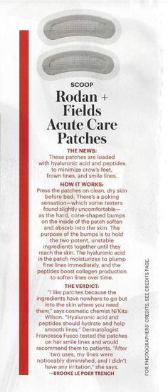 Rodan + Fields skincare Allure magazine, December 2014 Acute Care contact me on how to get Acute Care for you!  https://tashawurm.myrandf.biz/shop/REDEFINE