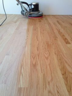 Lying Finish To This Oak Hardwood Floor We Are Using Rubio Monocoat Pure Here
