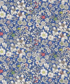 Liberty Art Fabrics June's Meadow A Tana Lawn Cotton. This Liberty art fabric print was originally hand drawn in pencil on Tresco: a meadow of cut specimens from the Abbey Garden.