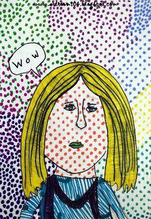 4th Grade Lichtenstein Pop Art Portraits