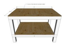 Make a workbench for your garage with these easy plans! Making A Workbench, Workbench Plans Diy, Building A Workbench, Garage Workbench, Folding Workbench, Industrial Workbench, Easy Woodworking Projects, Diy Projects, Diy Garage