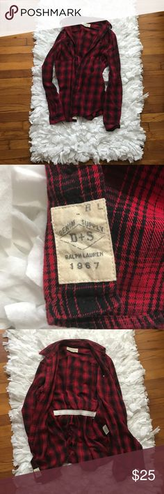 Denim and Supply Ralph Lauren Flannel shirt Denim and Supply Ralph Lauren Flannel shirt. EUC. The back has elastic for a more fitted look. Great colors! Very soft material! Great for fall. Denim & Supply Ralph Lauren Tops