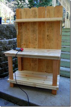 Potting bench tutorial.