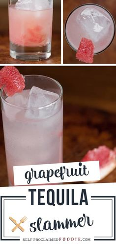 A quick and easy cocktail with grapefruit juice! With the perfect balance of the tequila, lemon lime soda and the juicy pulpy grapefruit you can achieve a refreshing bubbly Grapefruit Tequila Slammer. Have a glass and enjoy this popular brunch drink recipe!