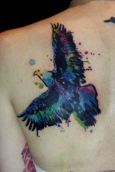 watercolor eagle tattoo -- Freedom