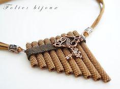 "колье ""Свирель"" beaded flute necklace"