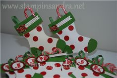 Christmas Stockings Gift Holder Stampin' Up! Idea