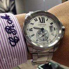 Calibre De Cartier men s watch with custom made shirt from Tom James  Executive Collection.   1f62779f06d
