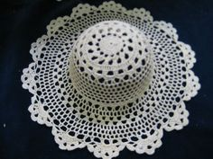 Crocheted Doily Hat