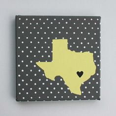 Texas State Map, State Love, State Silhouette, Customize