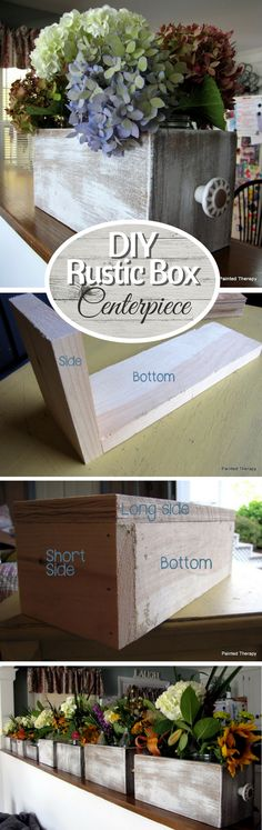 Check out how to build a DIY rustic wooden box for centerpieces @istandarddesign