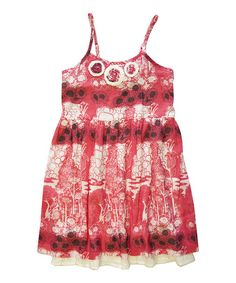 Look what I found on #zulily! Pink Flower A-Line Dress - Girls #zulilyfinds
