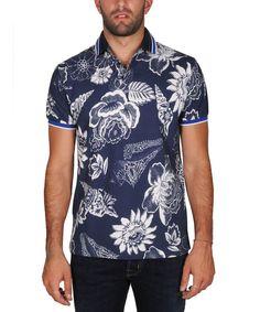 ETRO Etro Men'S  White/Blue Cotton Polo Shirt'. #etro #cloth #polos
