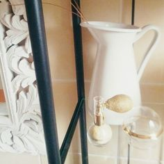 My bathroom corner: ikea furnitur, maison du monde mirror, shining glitter Yamamay