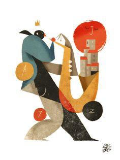 riccardo-guasco-illustration. #musicart http://www.pinterest.com/TheHitman14/music-drawn-%2B/