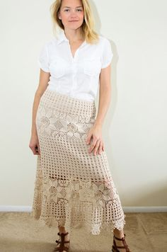 Can't wait for summer days to come so I can wear my new skirt! I see myself walking through a field of daisies wearing this skirt.  I made ...