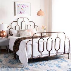 Ez a következőket tartalmazza: Paloma Metal Retro Bed/Antique Bronze/full - Cool Stuff & Accessories