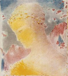Sistine Chapel Ceiling, Odilon Redon, Yellow Art, New Art, Les Oeuvres, Printmaking, Cool Art, Awesome Art, Poster Prints