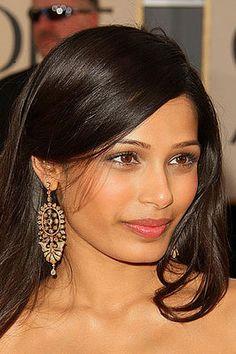 #natural #makeup Indian actress Freida Pinto