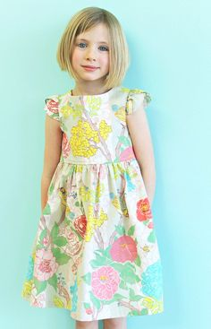 Girls Spring Floral Dress- Garden Party Tulip Sleeve Dress on Etsy, $58.00