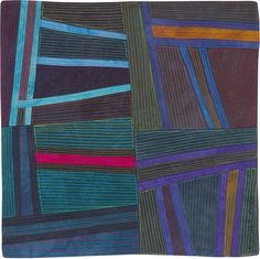 Abstract Contemporary Textile Painting / Art Quilt - Structures #134 ©2012 Lisa Call