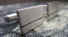 Sterling Silver Cufflinks. 1.5mm Thickness 12.5mm x 17.5mm. Groom, Best Man, Weddings, Anniversary, Birthday Handmade gift. by lisaakatz on Etsy
