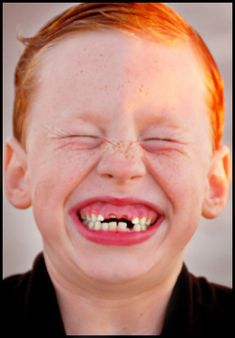 Children who have lost their front teeth always have the largest grin! ♥ He's so…