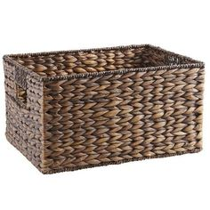 Made of naturally renewable water hyacinth and seagrass, our Carson baskets are handcrafted using ancient Vietnamese weaving techniques. The shelf baskets come in handy for stylishly stashing CDs, DVDs, books, magazines, craft supplies and more. Did we mention they'll also add textural interest and decorative flair while containing the clutter? Now that's nice.
